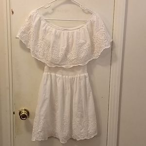 Justify white lace dress